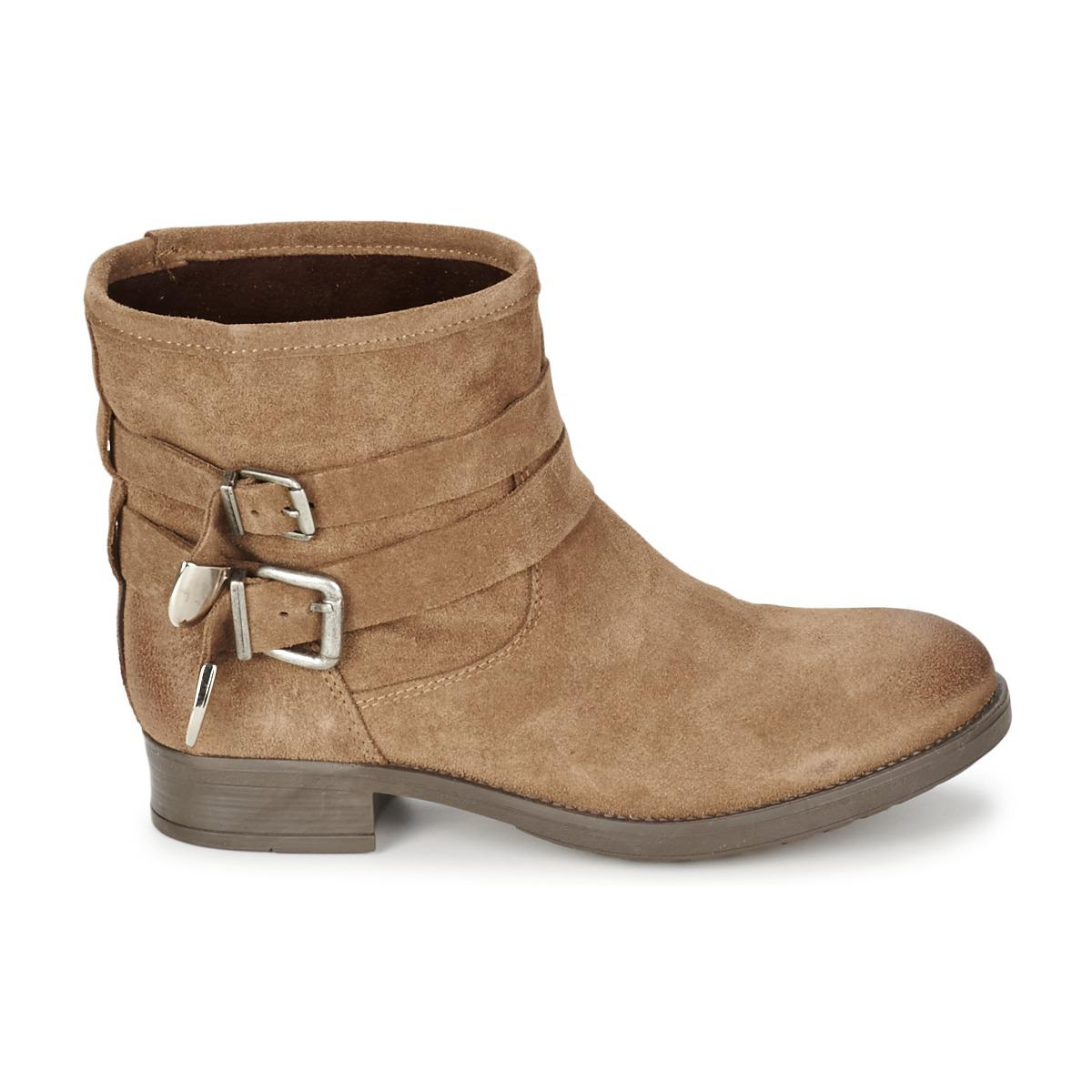 Casual Attitude Leather Neutroutrac Mid Boots in Brown