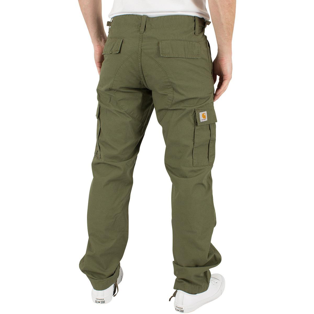 Carhartt WIP Men's Aviation Slim Fit Cargos, Green Men's Trousers In Green for Men