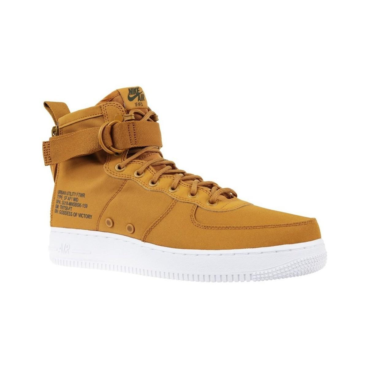 Nike Air Force 1 Sf Mid Men s Shoes (high-top Trainers) In Brown in ... ac5867ec3