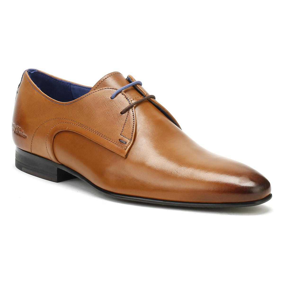 3ae587386f8 Ted Baker Mens Tan Leather Peair Shoes Men s Smart   Formal Shoes In ...