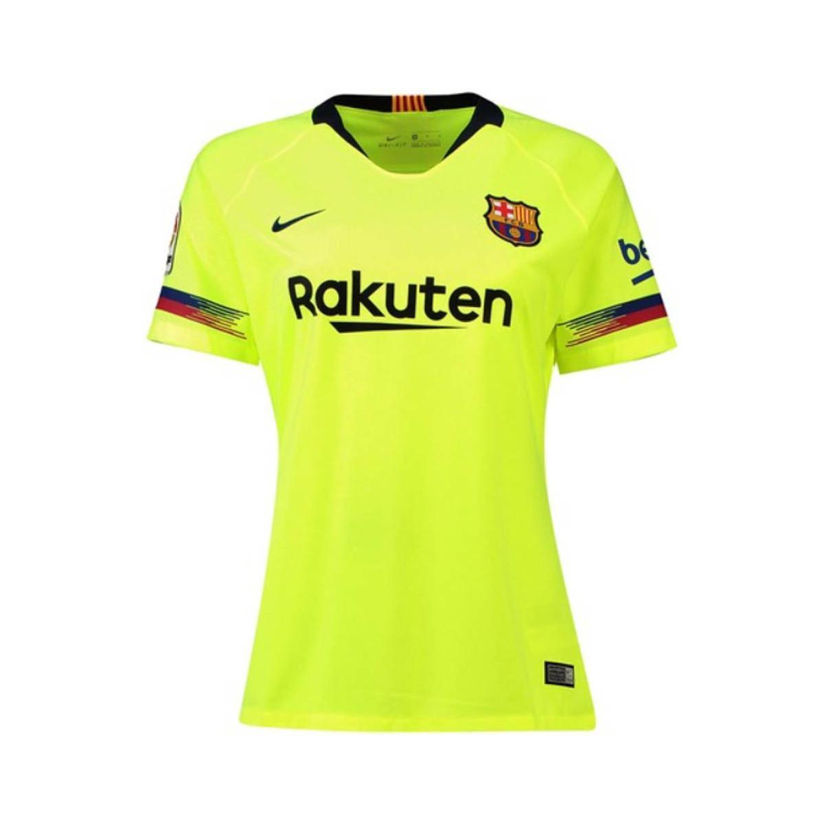 7ba38c6b9 Nike 2018-2019 Barcelona Away Ladies Shirt Men s T Shirt In Yellow ...