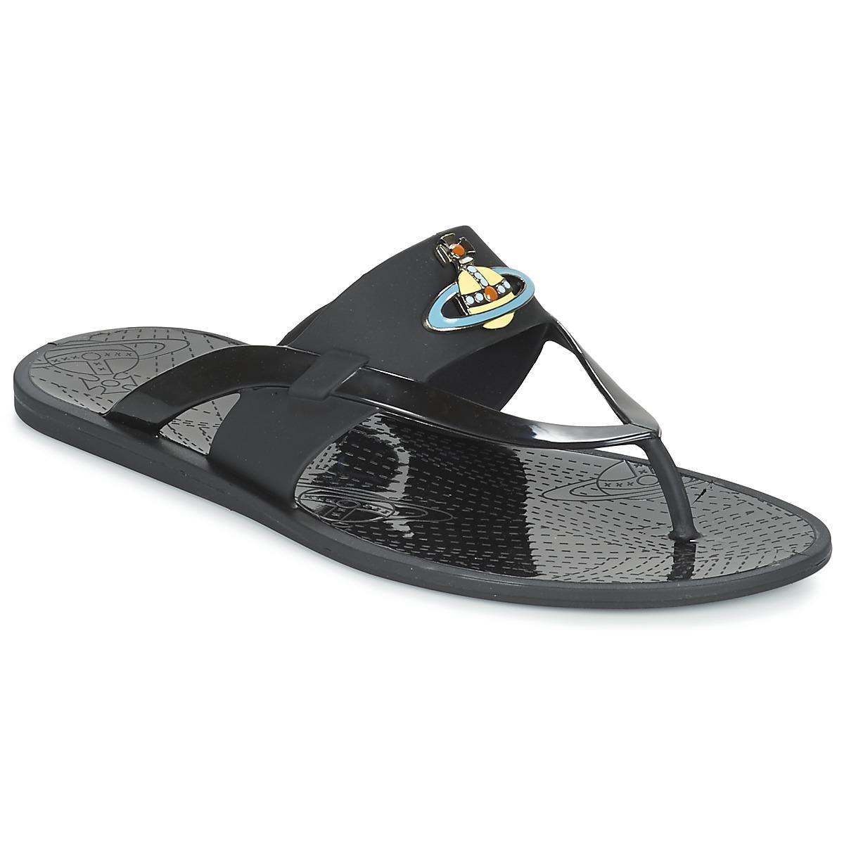 3c538d8a396d Vivienne Westwood. Men s Black Orb Enamelled Sdl Flip Flops   Sandals (shoes )