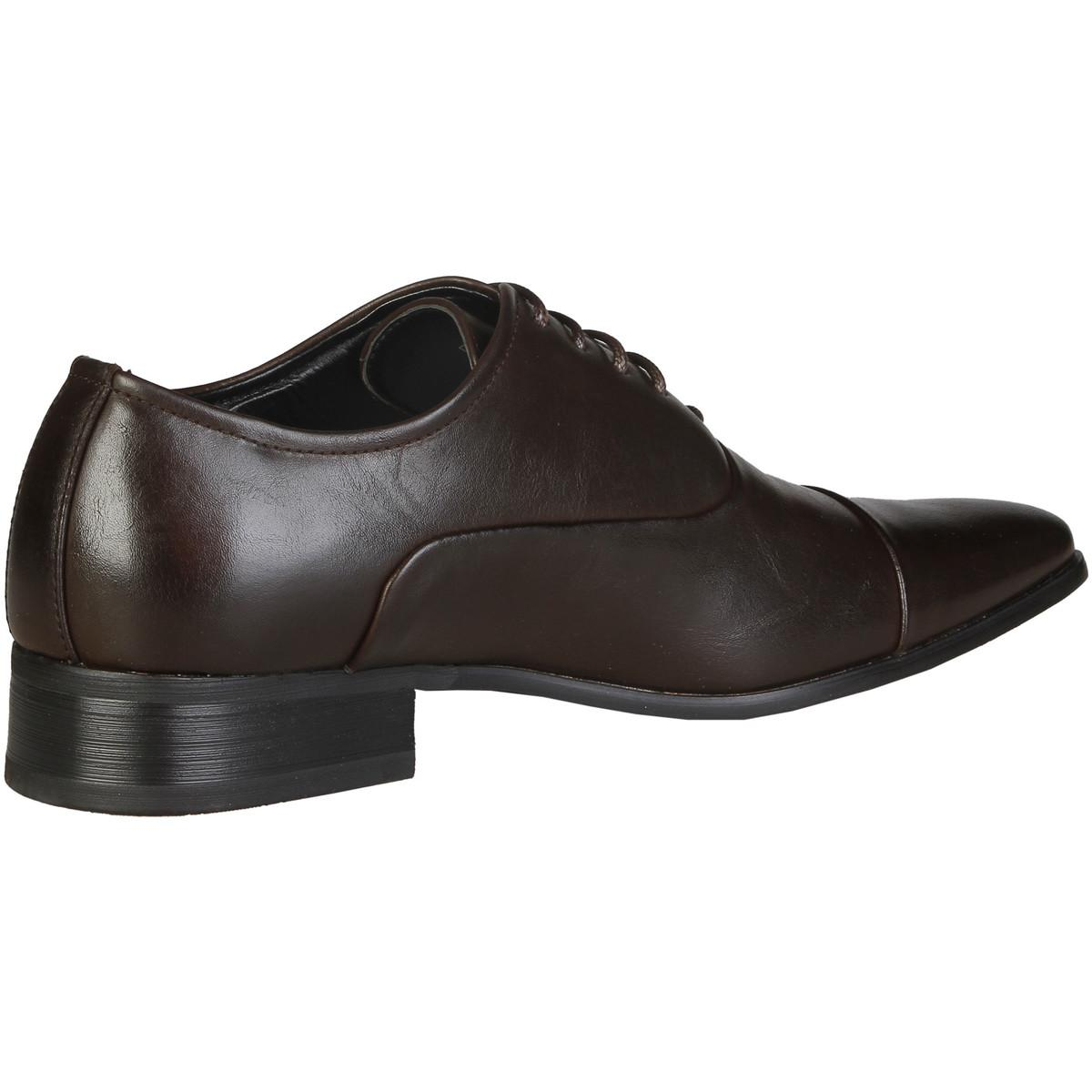 Versace Leather Eymeric Men's Smart / Formal Shoes In Brown for Men