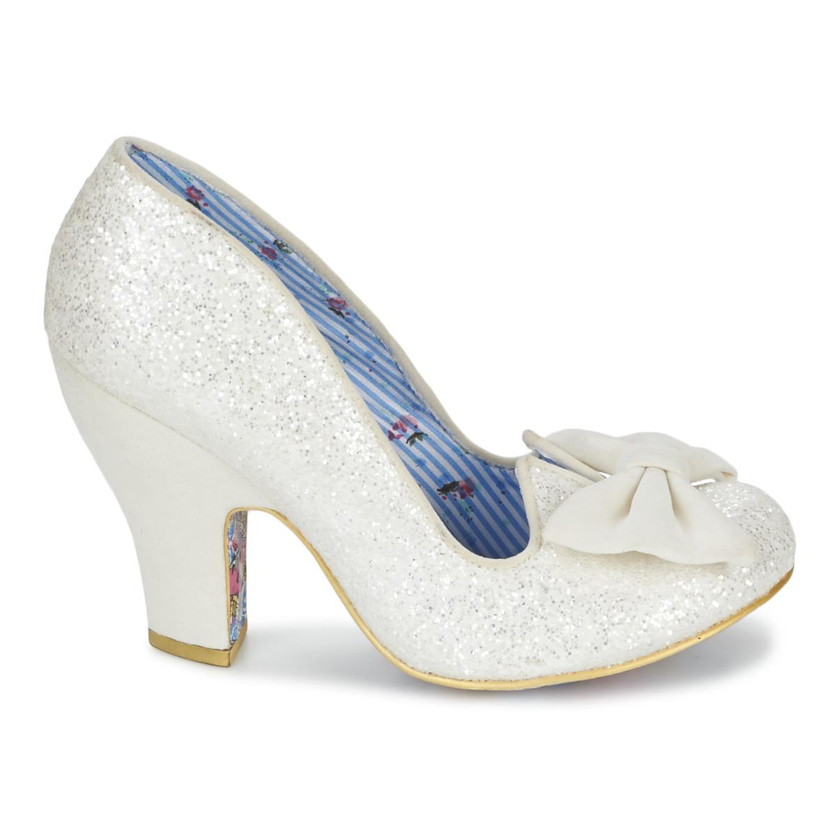 7bc8f6ccc989 Irregular Choice - Nick Of Time Women s Court Shoes In White - Lyst. View  fullscreen