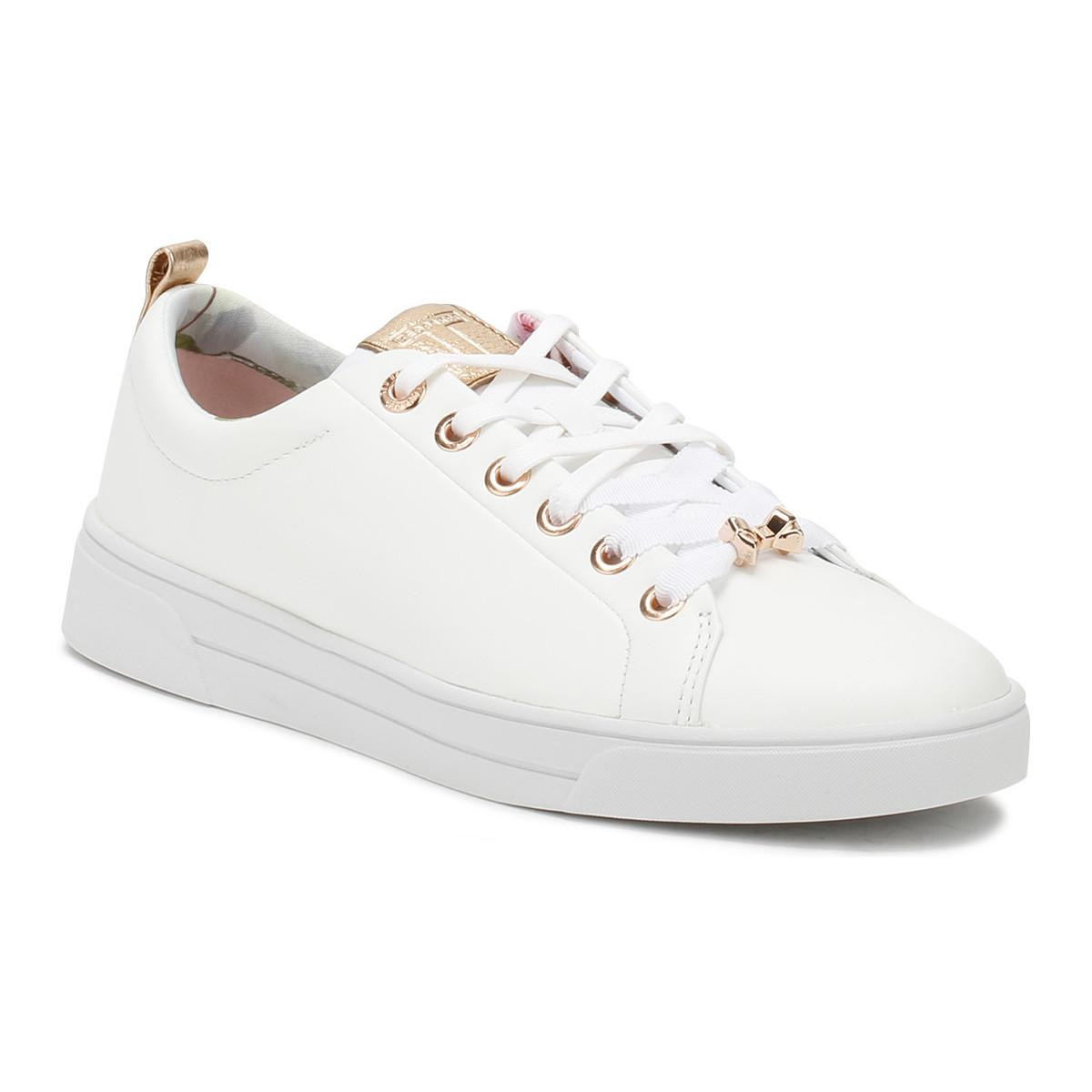 c13d6c9a5 Ted Baker Womens White Kellei Trainers Women s Shoes (trainers) In ...