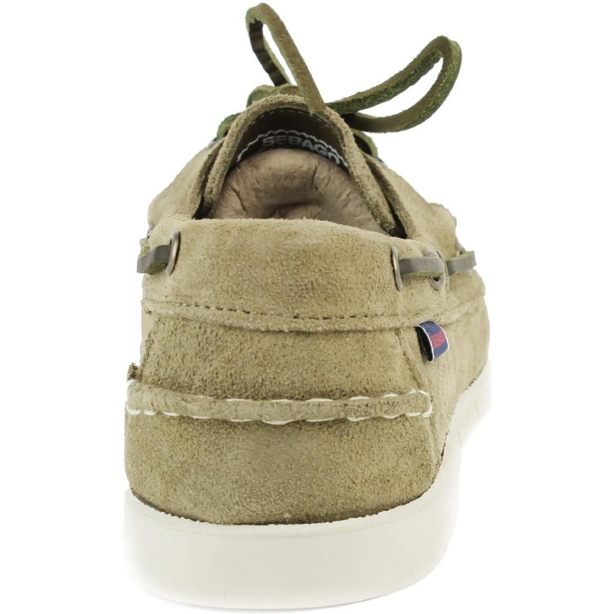 Dockside velours kaki Chaussures Sebago pour homme en coloris Vert