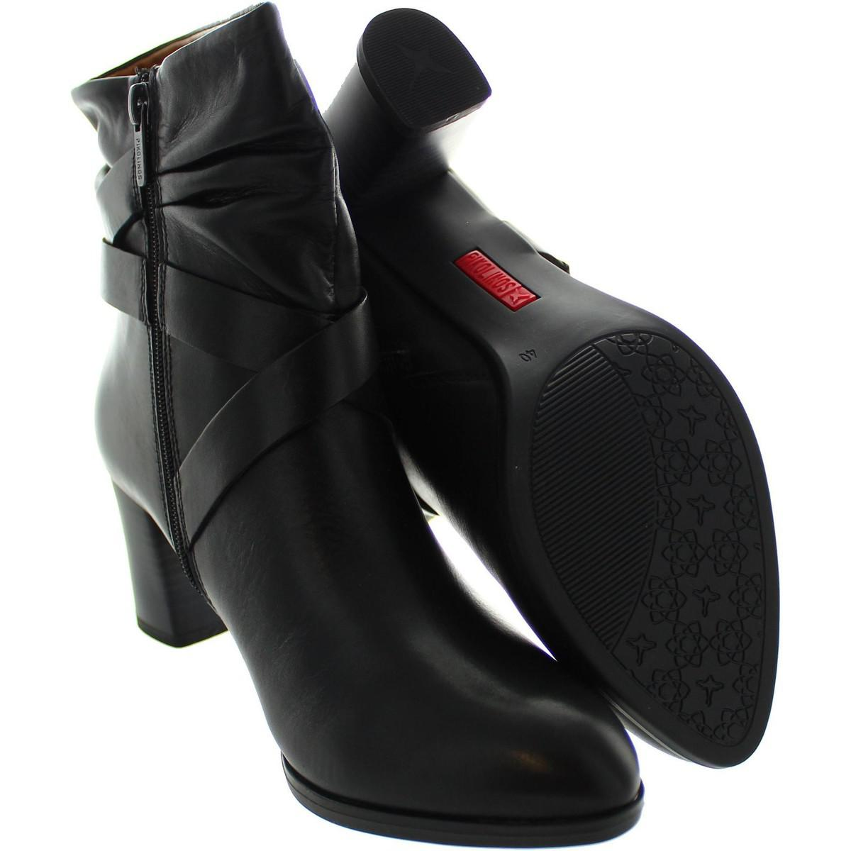 Pikolinos W3n-8956 Women's Low Ankle Boots In Black