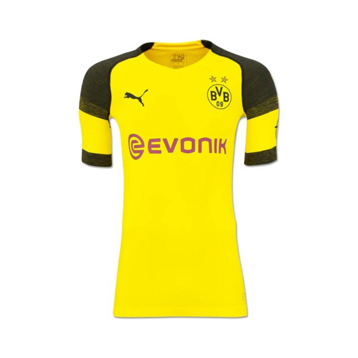 c2071cc9e3990 PUMA 2018-2019 Borussia Dortmund Authentic Evoknit Home Football ...