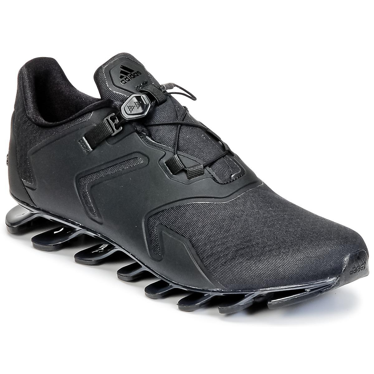 huge selection of fe0d4 cb3b8 Adidas Black Springblade Solyce Running Trainers for men