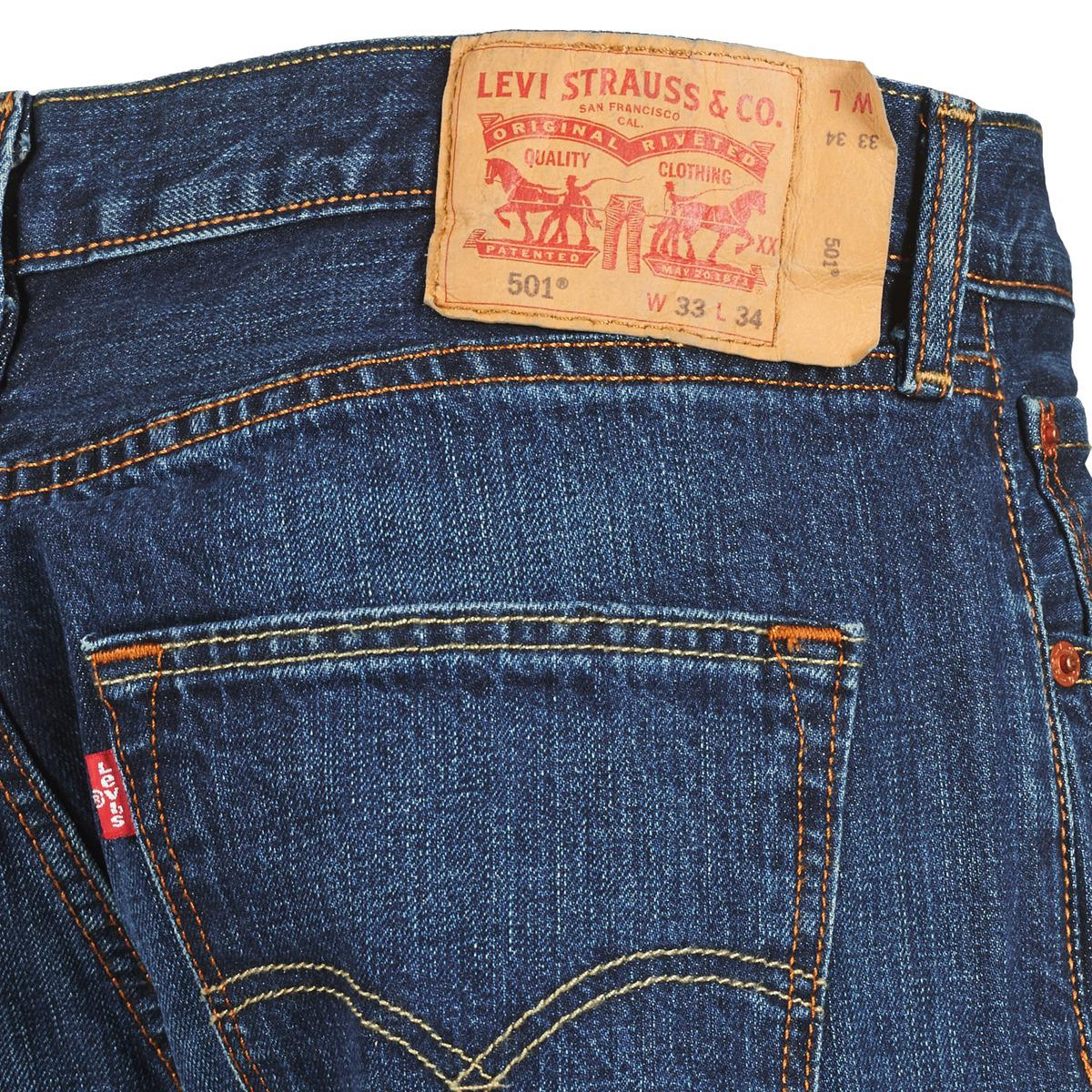 Levi's Denim 501 Jeans in Blue for Men
