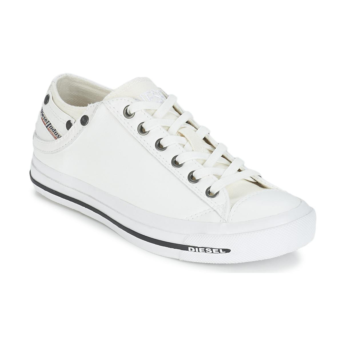DIESEL - Exposure Iv Low Woman Women s Shoes (trainers) In White - Lyst.  View fullscreen 463c5e80080