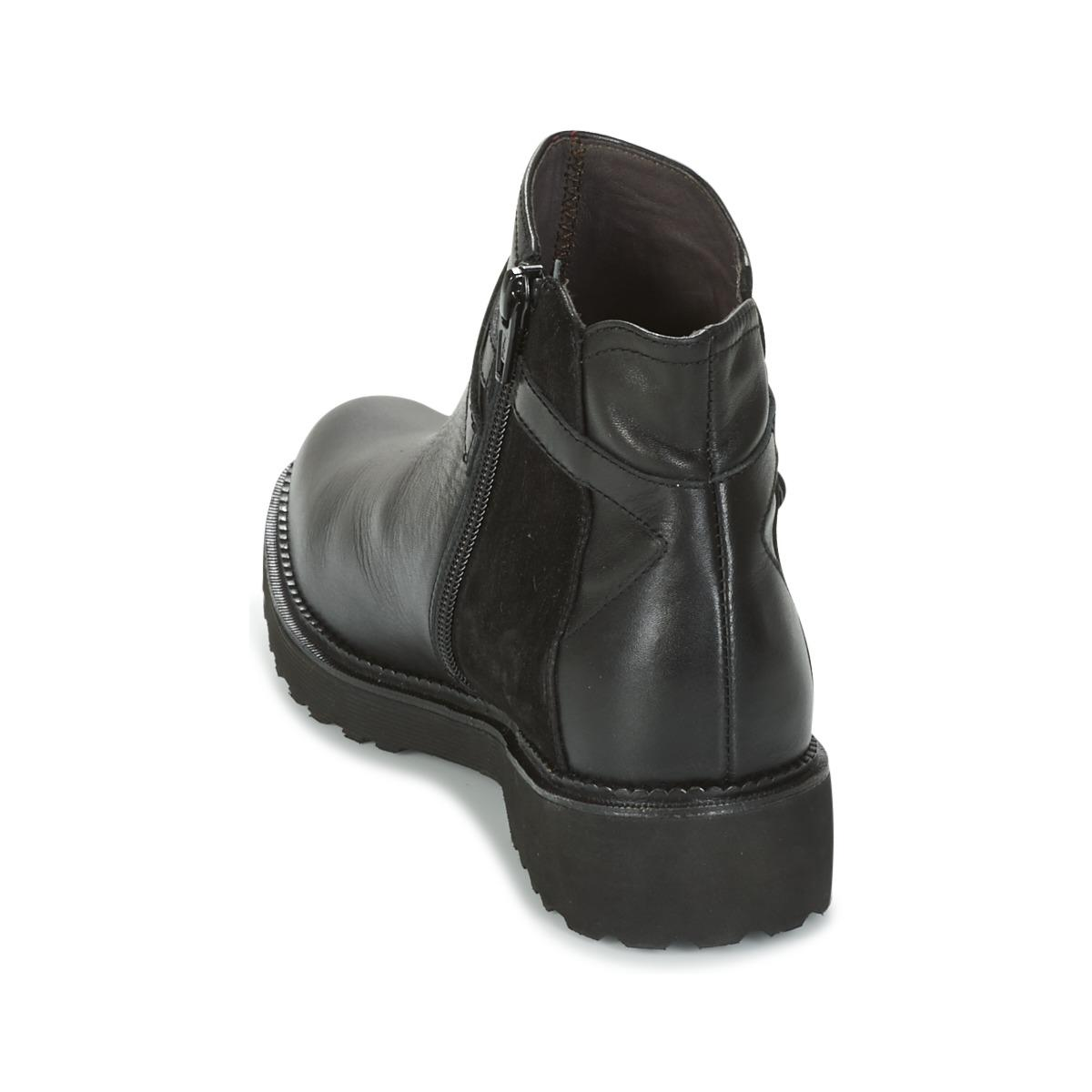Mam'Zelle Leather Roux Women's Mid Boots In Black