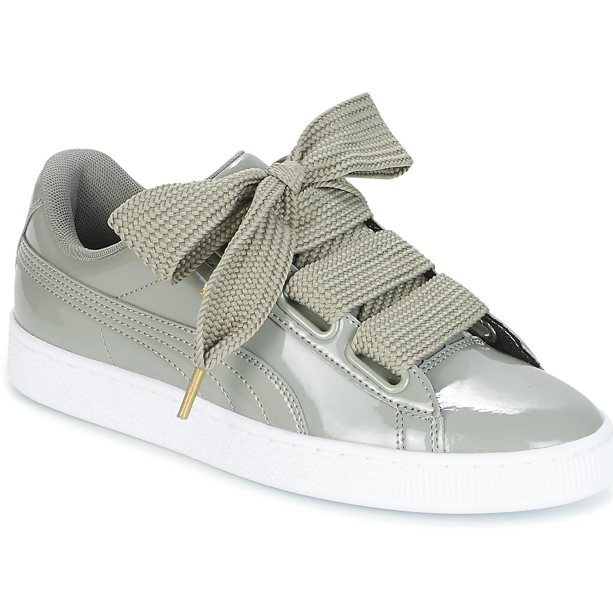 6768bc92f8bc5 PUMA Basket Heart Patent W s Women s Shoes (trainers) In Grey in ...