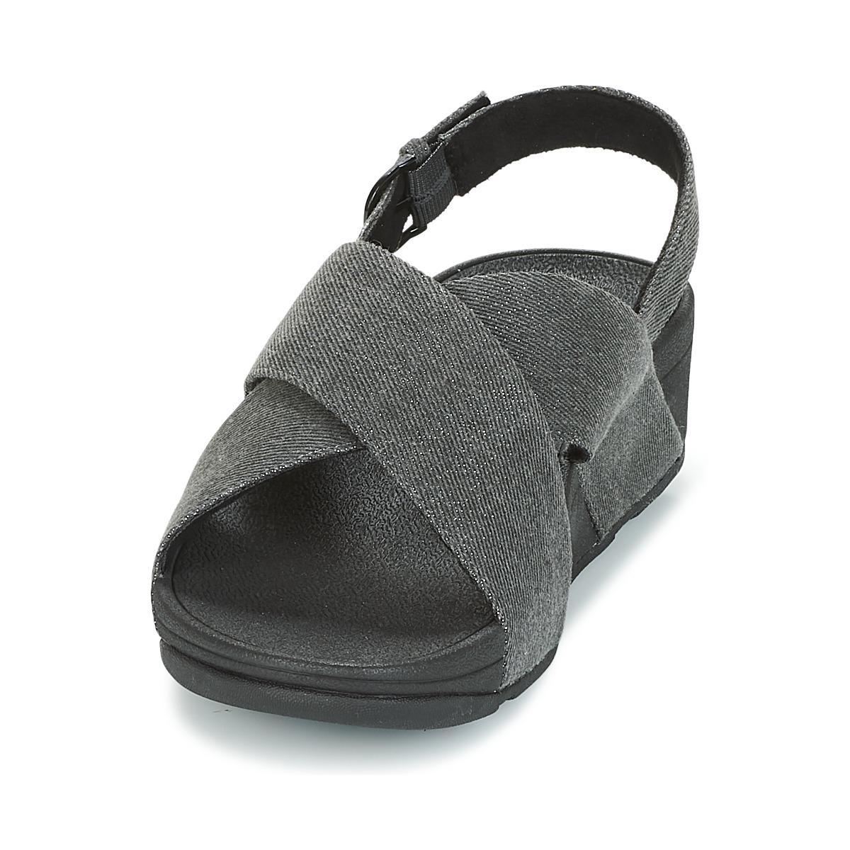 5c90480c1 Fitflop - Lulu Cross Back-strap Sandals Women s Sandals In Black - Lyst.  View fullscreen