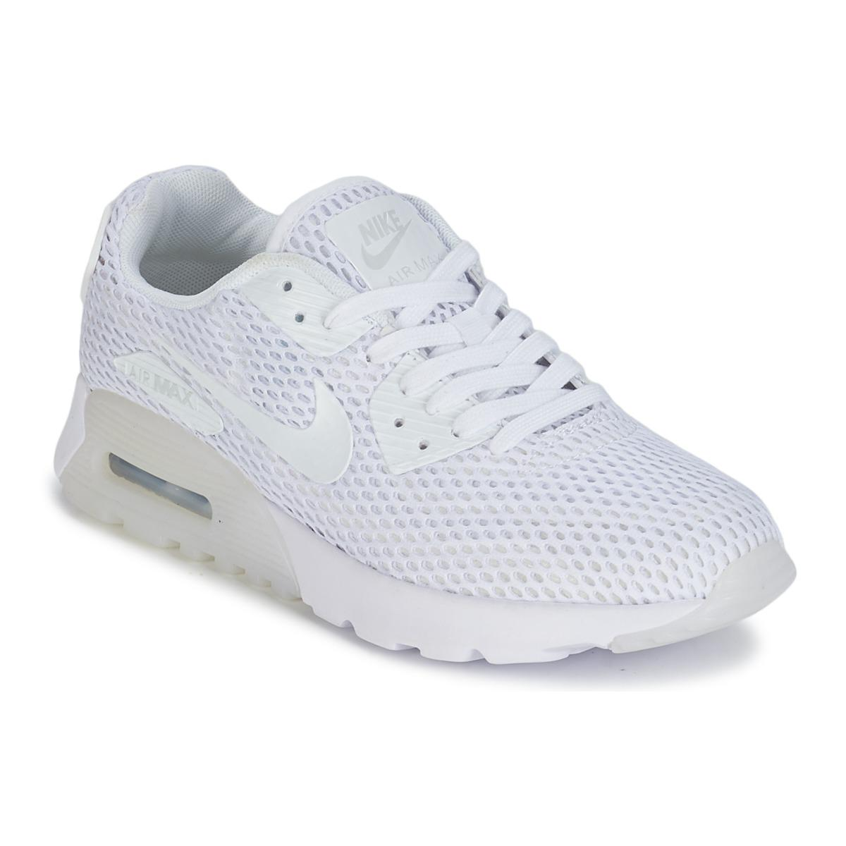 9b01edef47d3 Nike Air Max 90 Ultra Breathe W Women s Shoes (trainers) In White in ...