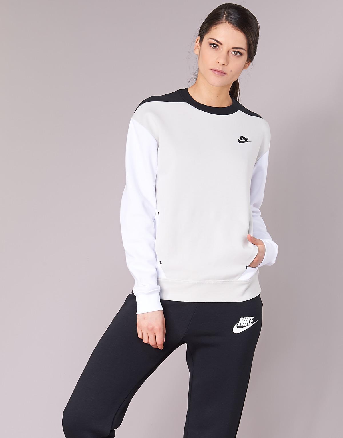 c1d5acd2a183 Nike Tech Fleece Crew Sweatshirt in Gray - Save 24% - Lyst
