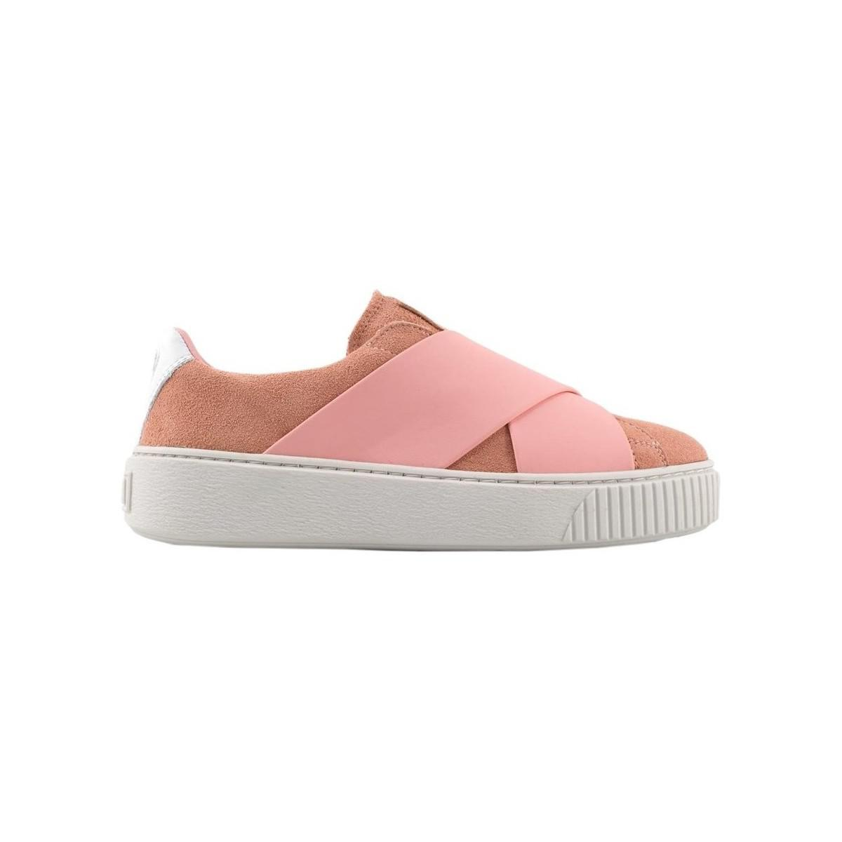 Puma Platform X Wns Men s Slip-ons (shoes) In Multicolour in Pink ... 1678fce84
