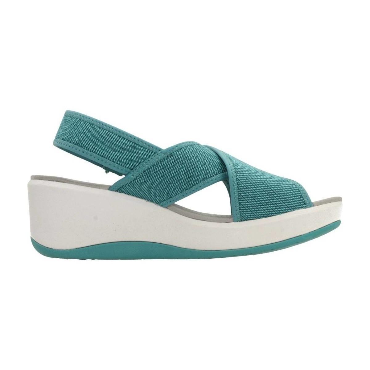 Clarks Step Cali Cove Aqua Women S Sandals In Blue In Blue