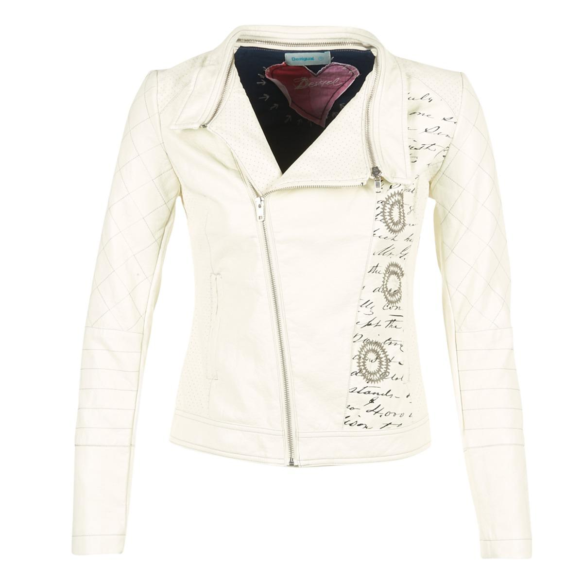 a3a8f07f6c6c Desigual En Coreteso Coloris Veste Lyst Femmes Blanc wqSxfwXnt