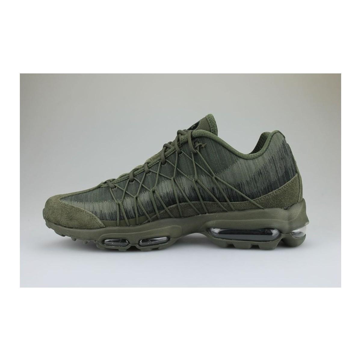 Air Max 95 Ultra Jacquard Kaki hommes Chaussures en vert Nike pour ...