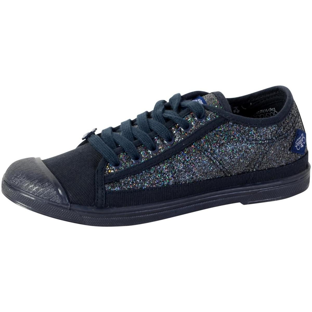 Le Temps Des Cerises Sneakers Basic 02 Glitter Navy Men's Shoes (trainers) In Black for Men