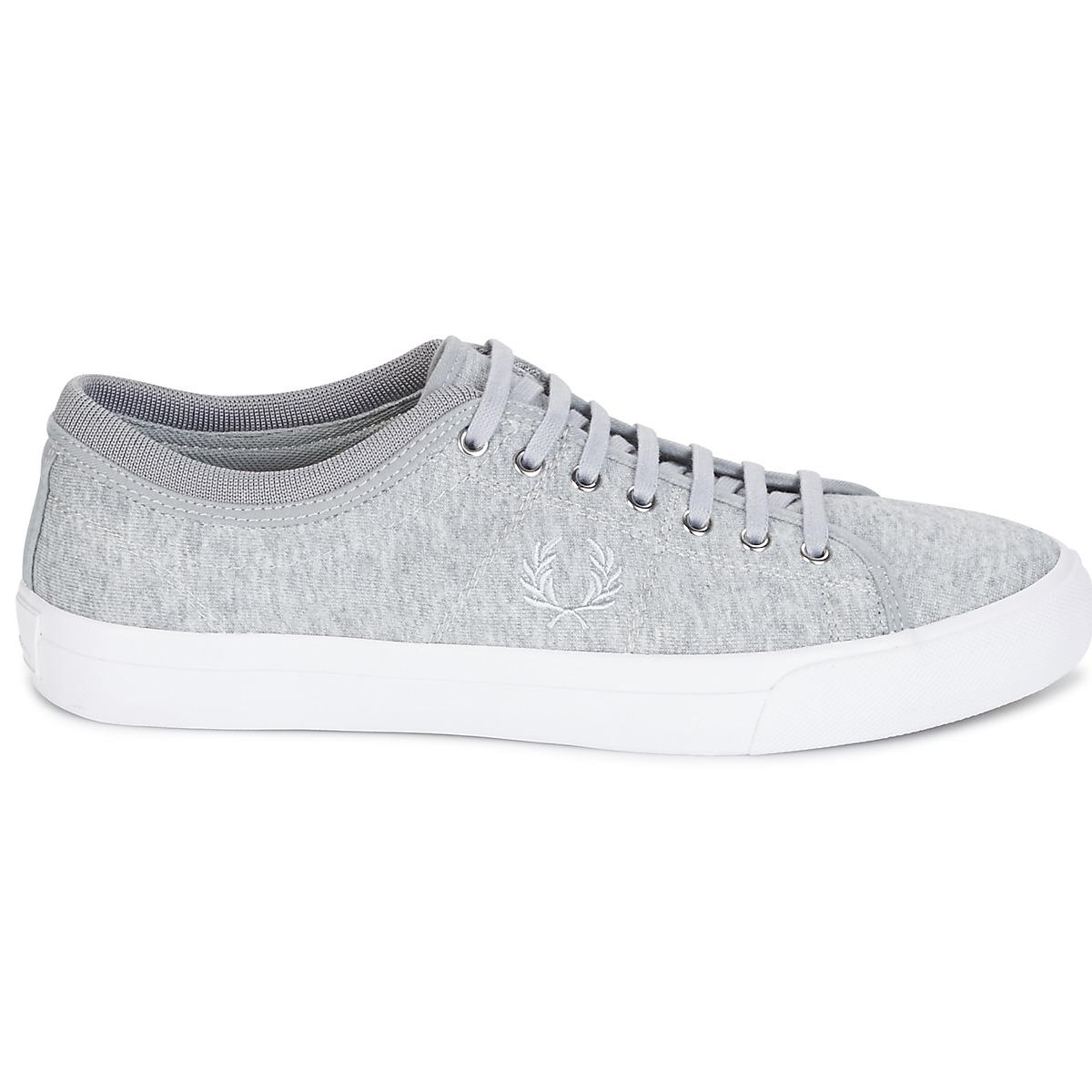 Fred Perry Kendrick Tipped Cuff Jersey Men's Shoes (trainers) In Grey in Grey for Men