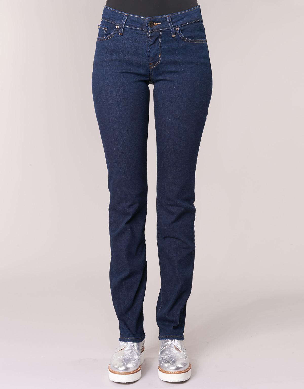 Levi's Denim Levis 714 Straight Women's Jeans In Blue