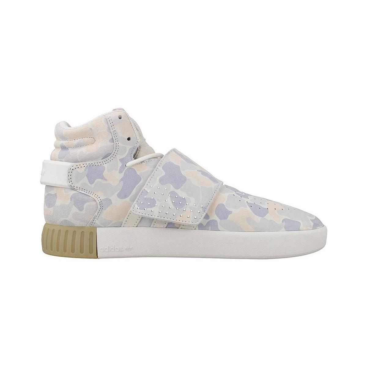 adidas Tubular Invader Strap Men's Shoes (high-top Trainers) In Purple for Men