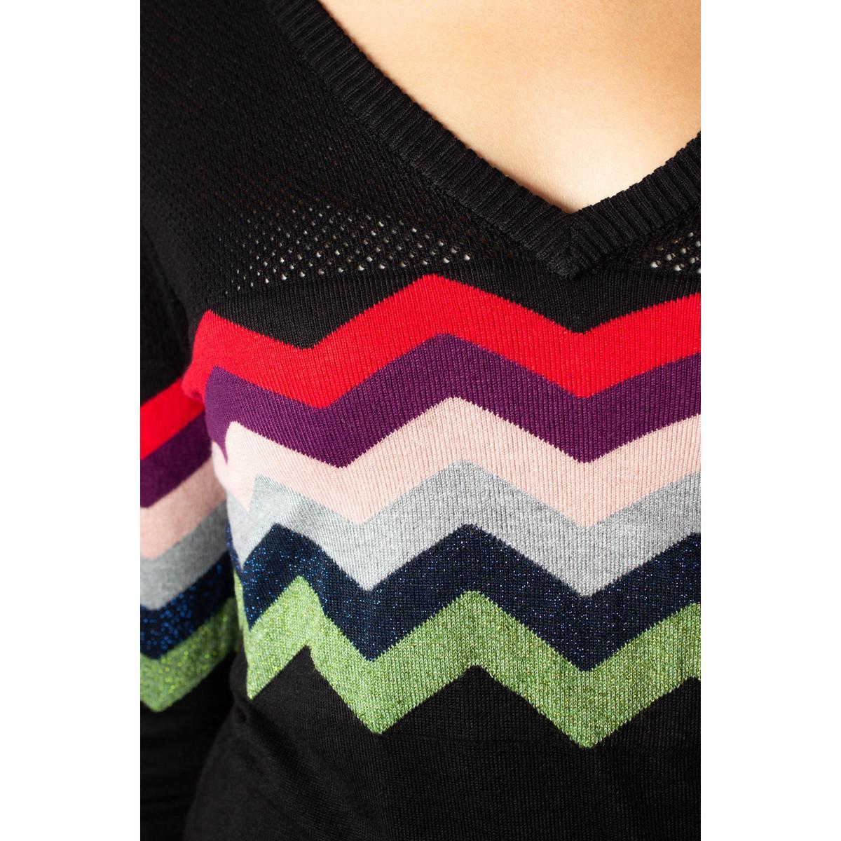 19WWJF07 Pull Desigual en coloris Noir
