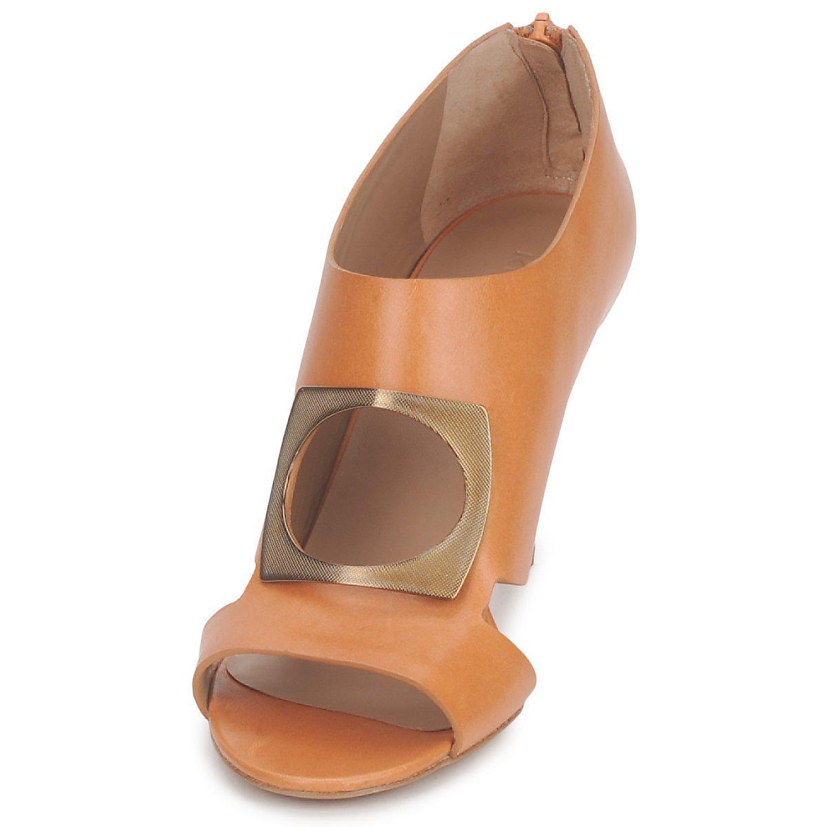 Kalliste Leather Flora Women's Low Boots In Brown