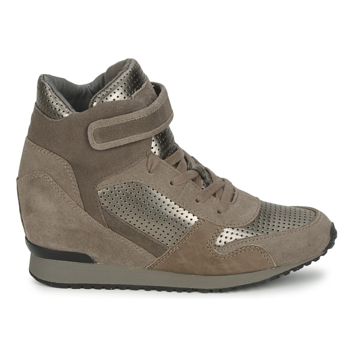 Ash Drum Women's Shoes (high-top Trainers) In Brown - Save 18%