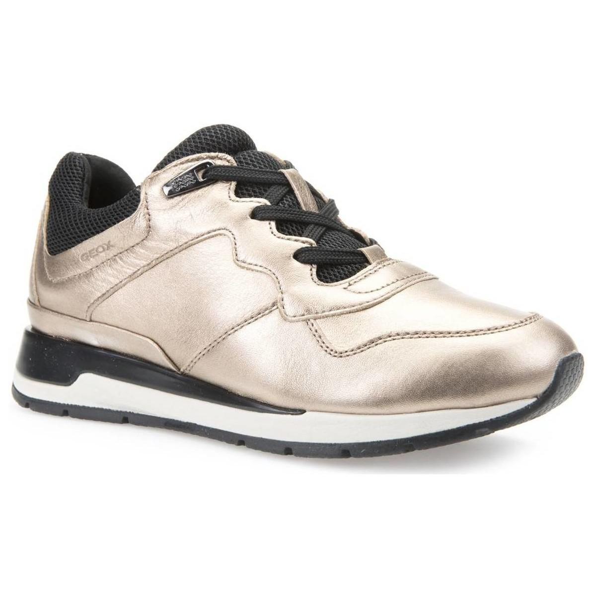 Geox D44n1a 000ky Sneakers Women Gold Women's Walking Boots In Gold in Metallic
