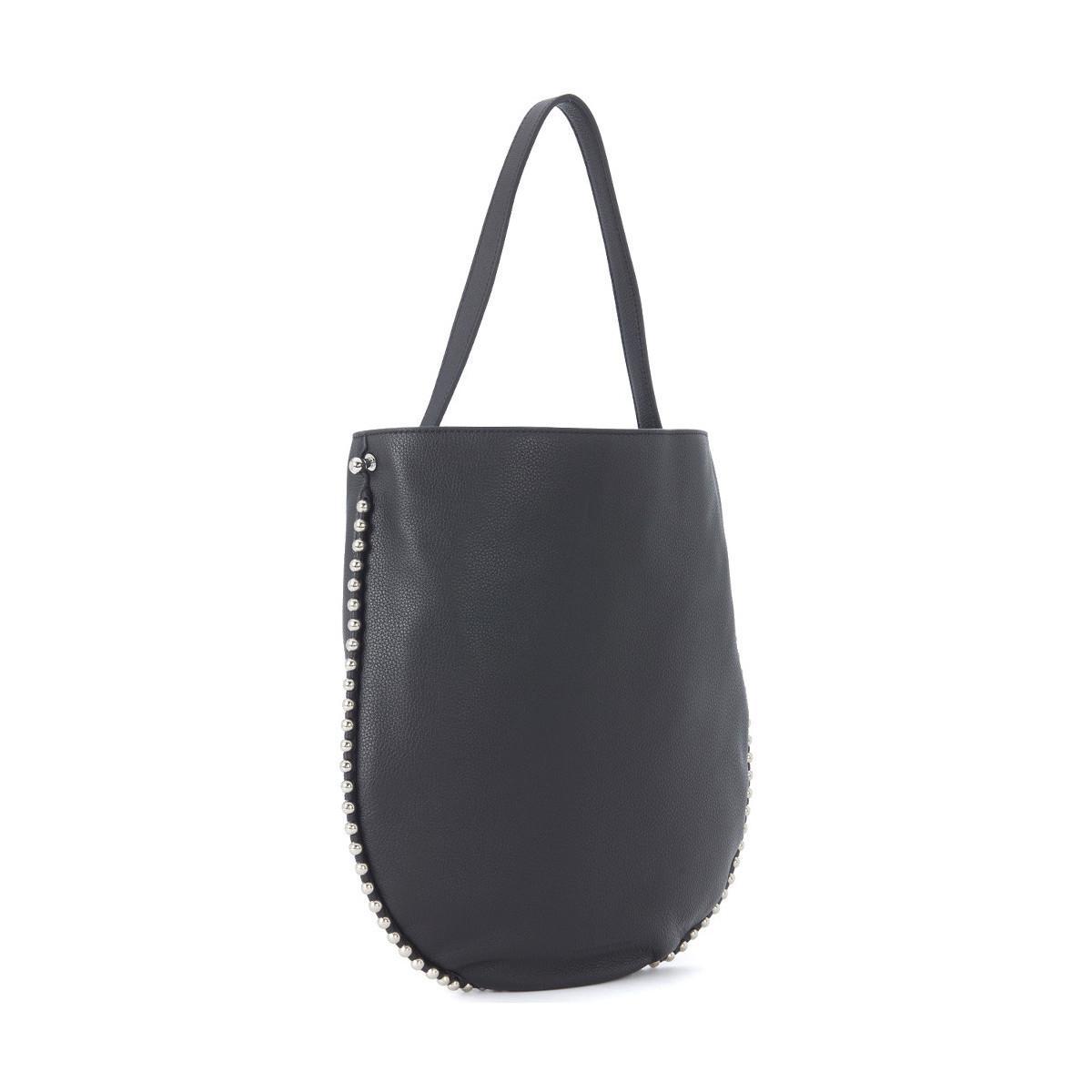 bc2fbf5bc2 Alexander Wang Roxy Hobo Black Leather Shoulder Bag Men s In Black ...