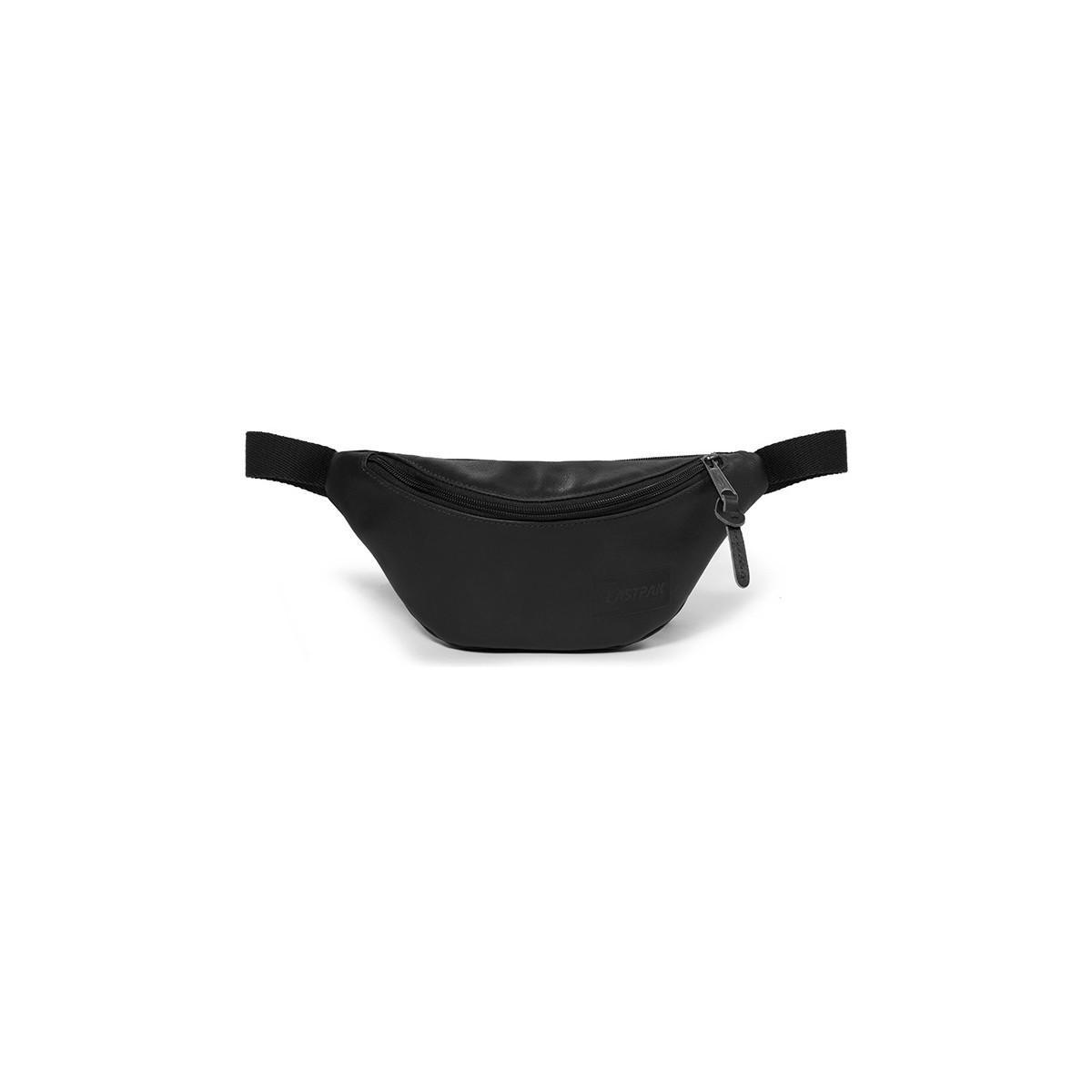 Eastpak Springer Pu Cross Body Bag Black Men's Hip Bag In Black for Men