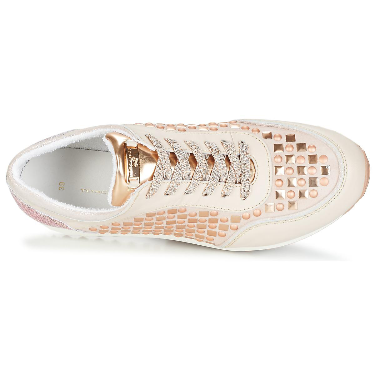 Tosca Blu Leather Diaspro Women's Shoes (trainers) In Pink