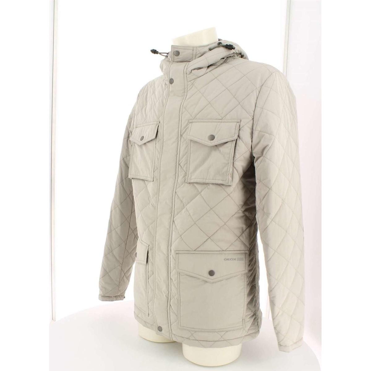 Geox M3420r T1931 Jacket Man String Men's Parka In Beige in Natural for Men