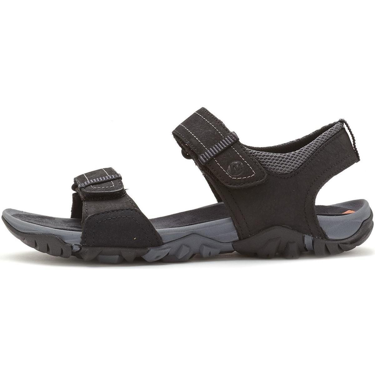 Merrell. Telluride Strap Hook Loop Sandal In Black J71101 Men's ...