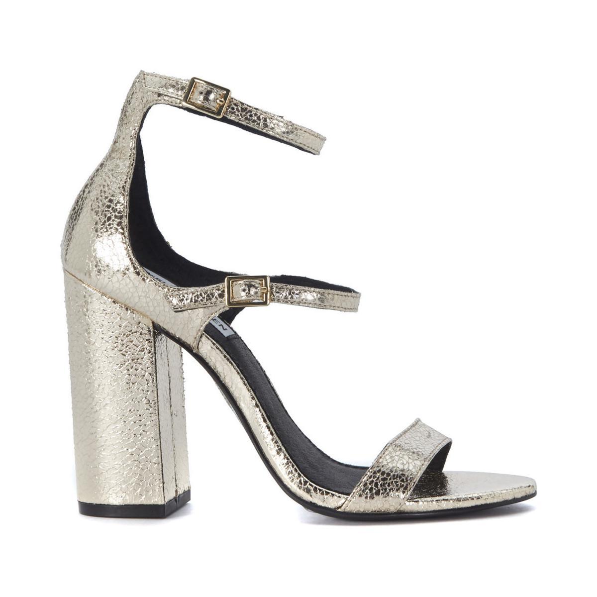 c32e6ae6d1ca Steve Madden Parrson Golden Craqueled Leather Sandal Women s Sandals ...