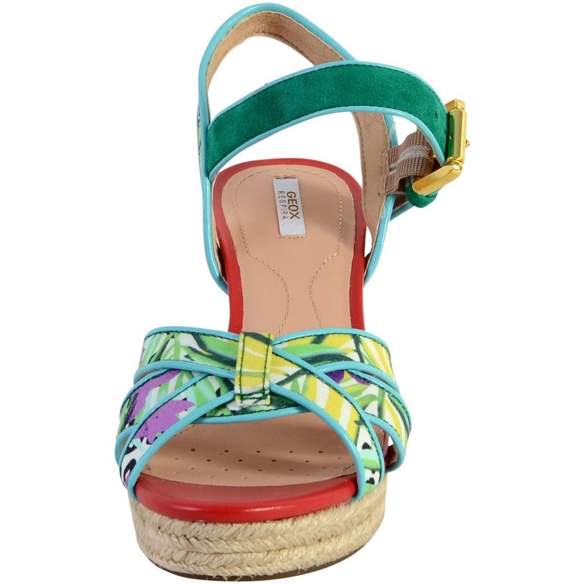 Sandale Suede Sandales Soleil A D Geox Femmes En Goat Multicolor TFJ3ucKl15