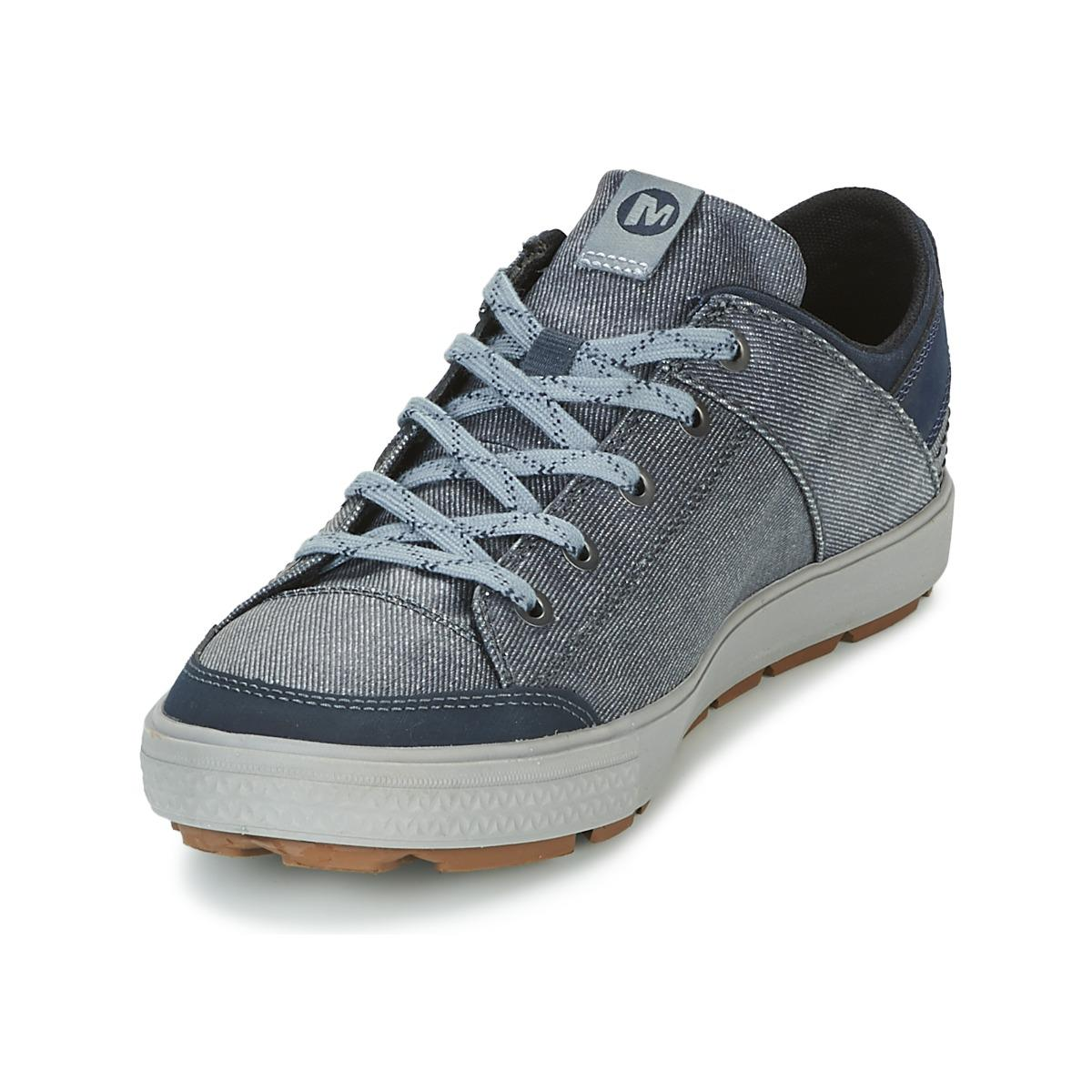 Merrell Rant Discovery Lace Canvas in Blue for Men