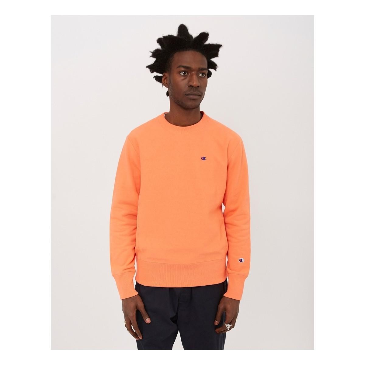 d4ced48e12da Champion Reverse Weave Crewneck Sweatshirt Coral Men's Sweater In ...