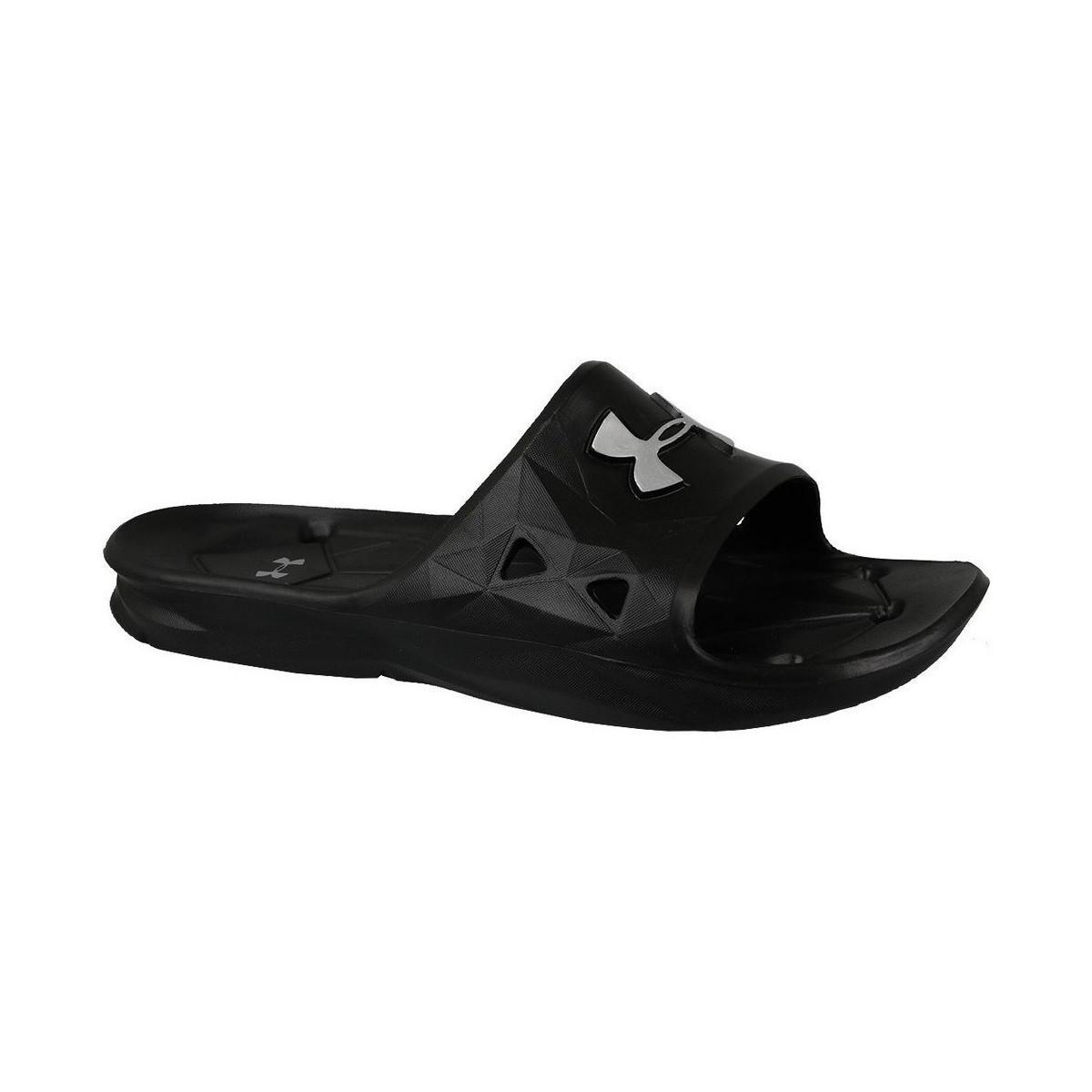 a4b1ff9ca7d Under Armour Locker Iii Sl Men s Sandals In Black in Black for Men ...