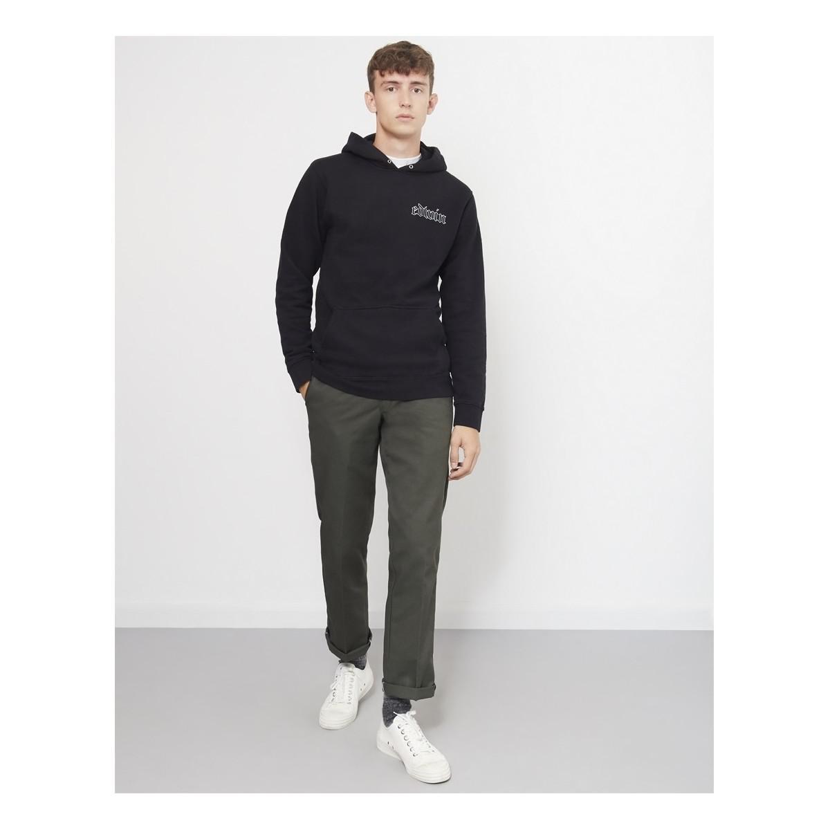 Edwin Cotton Best Or Nothing Hoodie Sweatshirt Black for Men