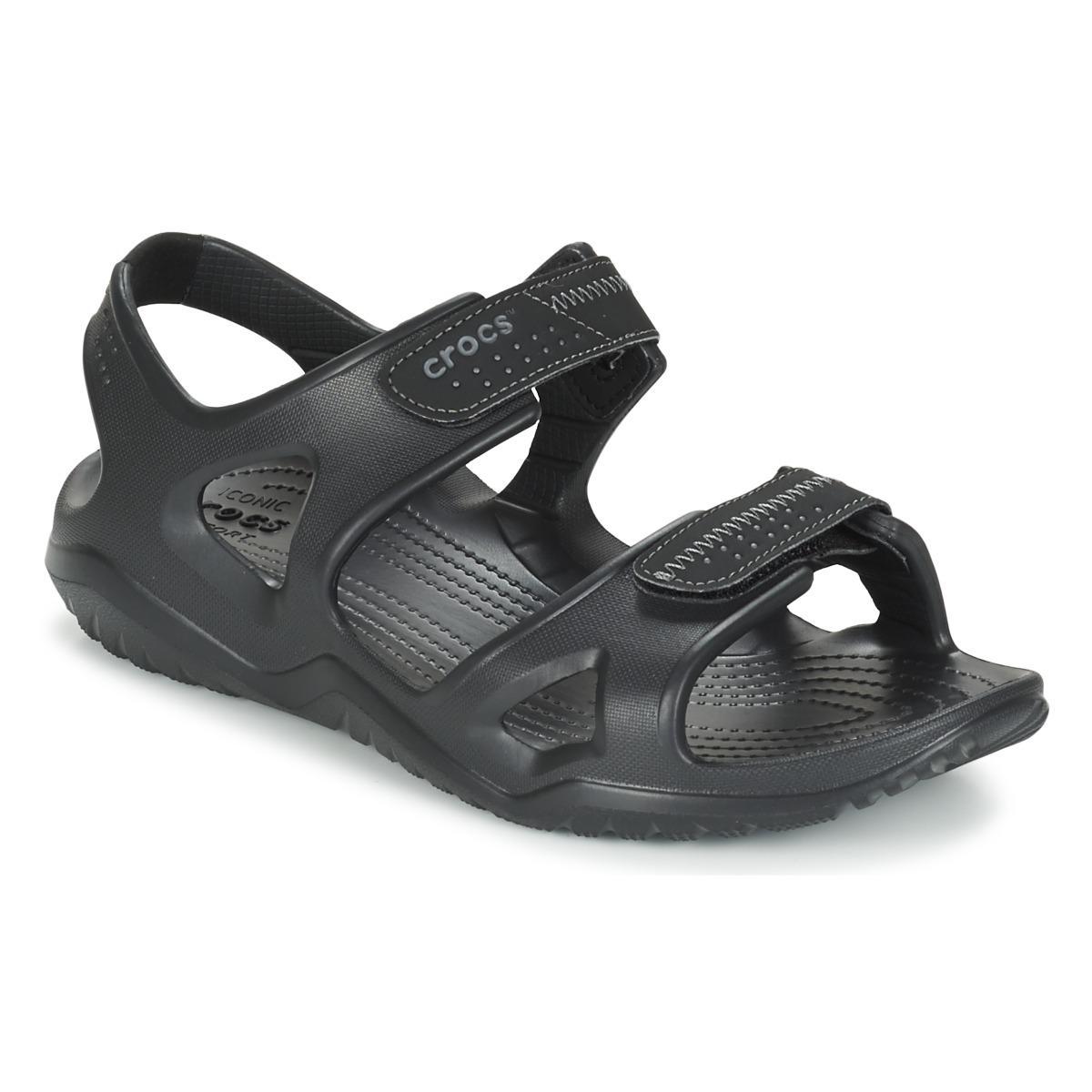 124a82fd88b Crocs™ Swiftwater River Sandal Sandals in Black for Men - Save 7% - Lyst