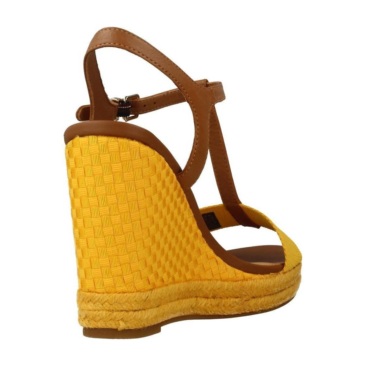cd1d7f2ad0541 Tommy Hilfiger Fw0fw02249 Women s Sandals In Yellow in Yellow - Lyst