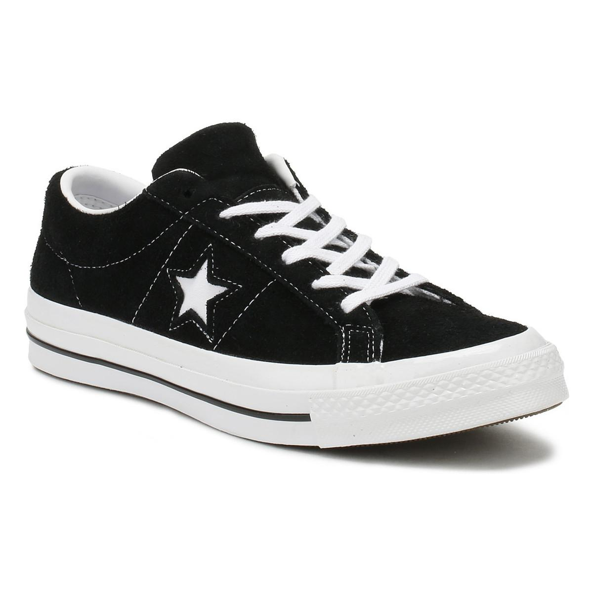 94b0e0b6bc7ad5 Converse. One Star Black Premium Suede Ox Trainers Women s Shoes ...