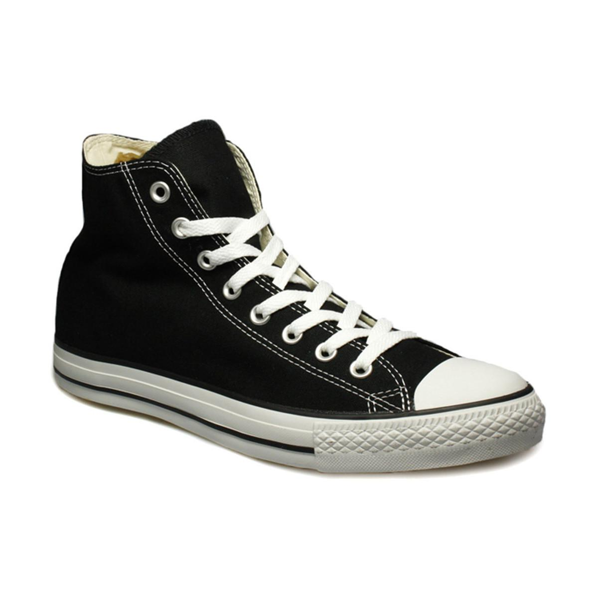 591094df09e7 Converse Mens Womens Black All Star Hi Trainers Men s Shoes (high ...