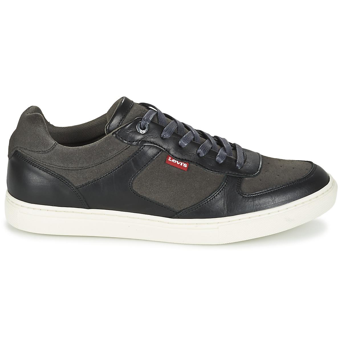 Levi's Leather Levis Perris Oxford Men's Shoes (trainers) In Grey in Grey for Men