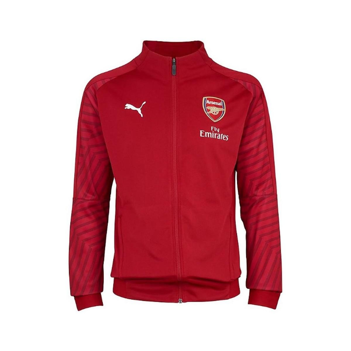 d6accf3115f7 PUMA 2018-2019 Arsenal Stadium Jacket (chilli Pepper) Men s ...