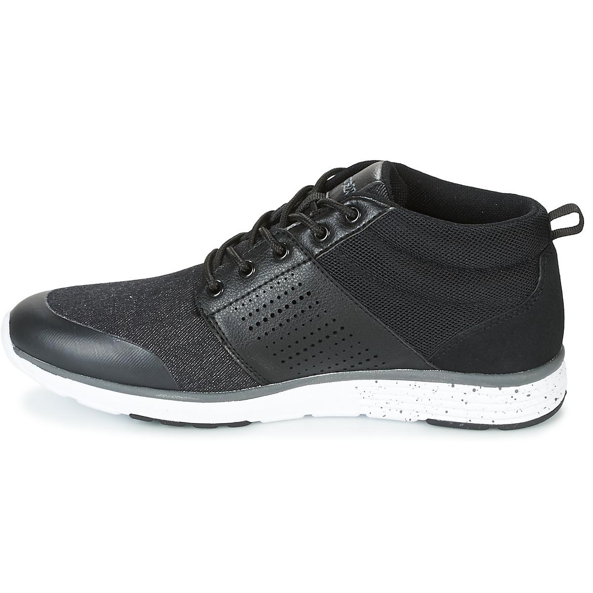 Kappa Synthetic Nassau Mid Men's Shoes (high-top Trainers) In Black for Men